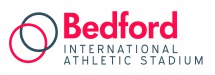 Bedford International Athletic Stadium logo